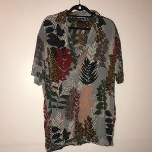 Zara Short Sleeve Print Burton Down